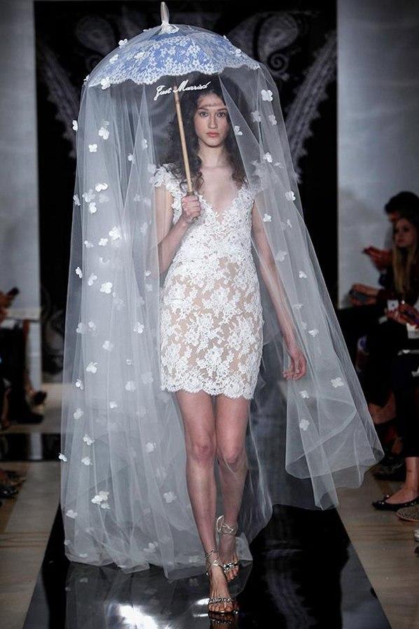 Короткие свадебные платья 2014 3