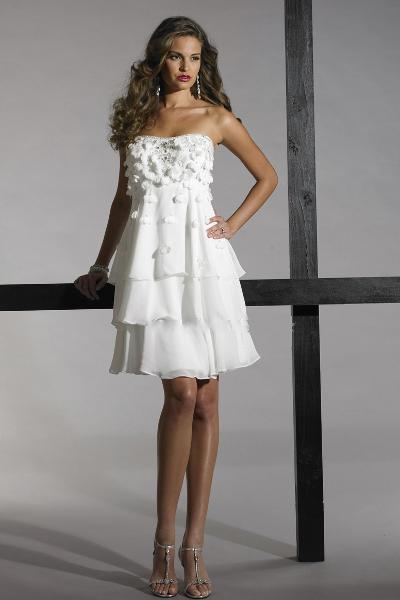 Короткие свадебные платья для беременных 1
