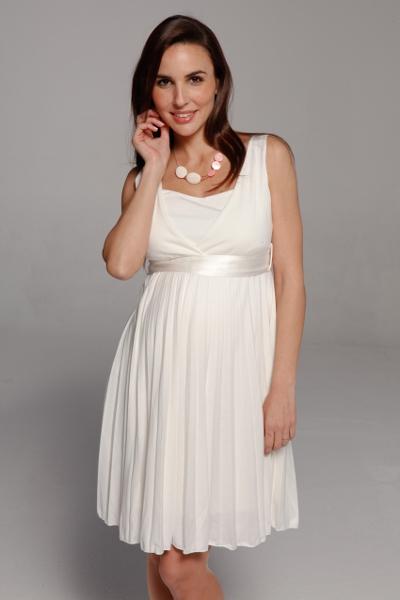 Короткие свадебные платья для беременных 4