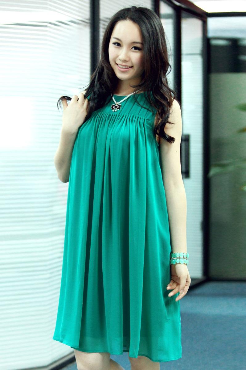 Платье из шелка для беременных