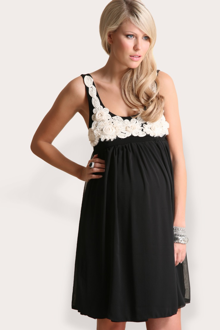 Сшить нарядное платье для беременной своими руками