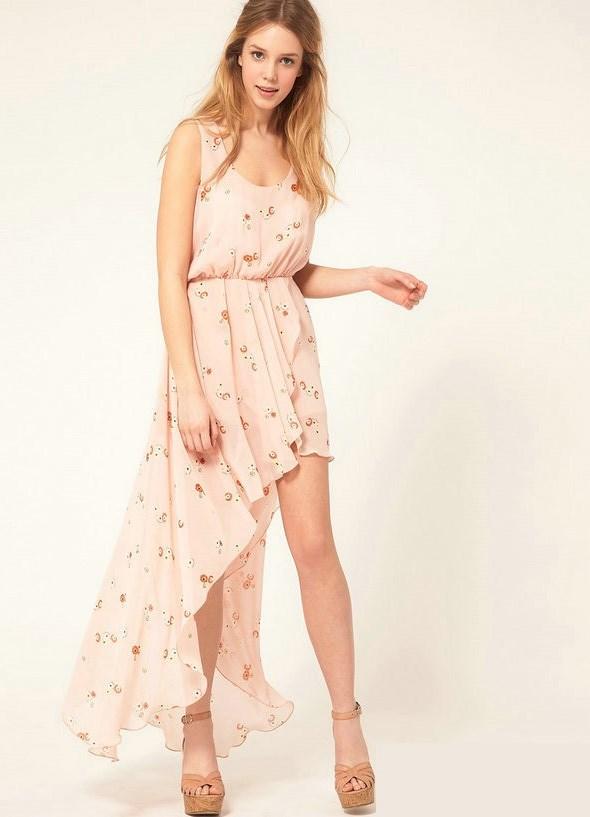 Красивое платье с шифоном летнее