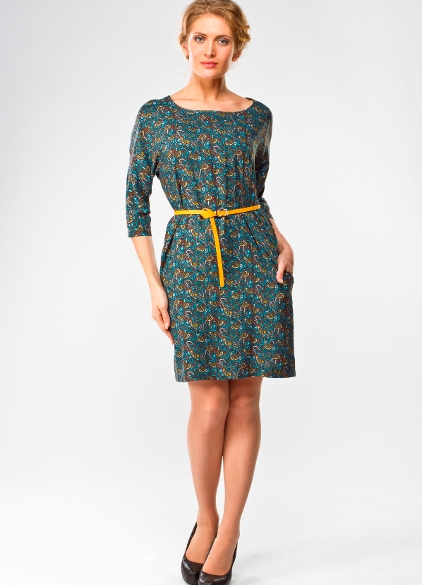 Фасон платья из ткани штапель