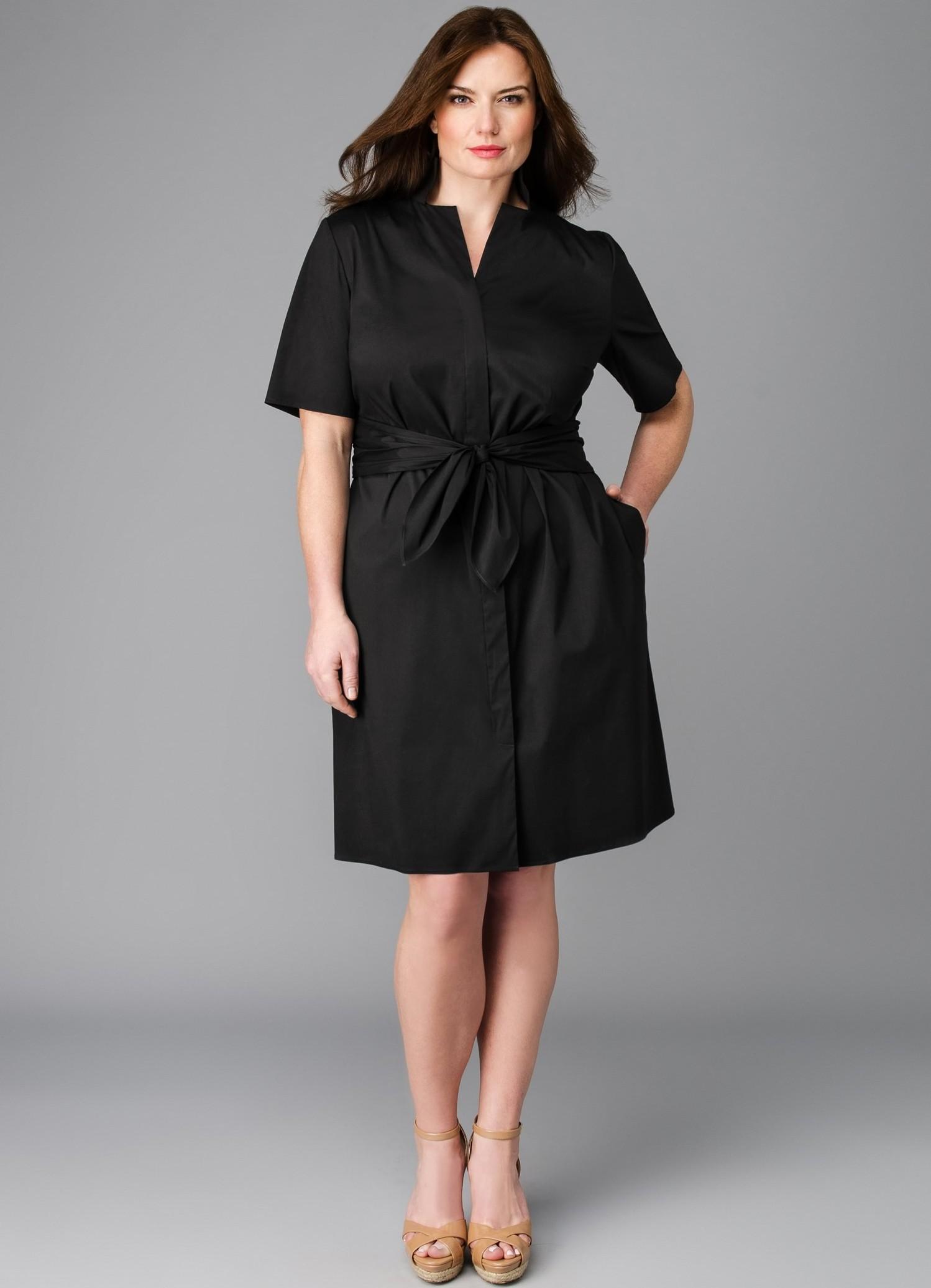 Современное платье для полных девушек