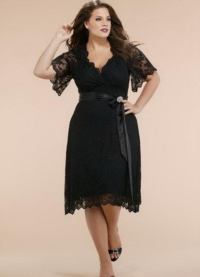 Чёрные длинные платья для полных