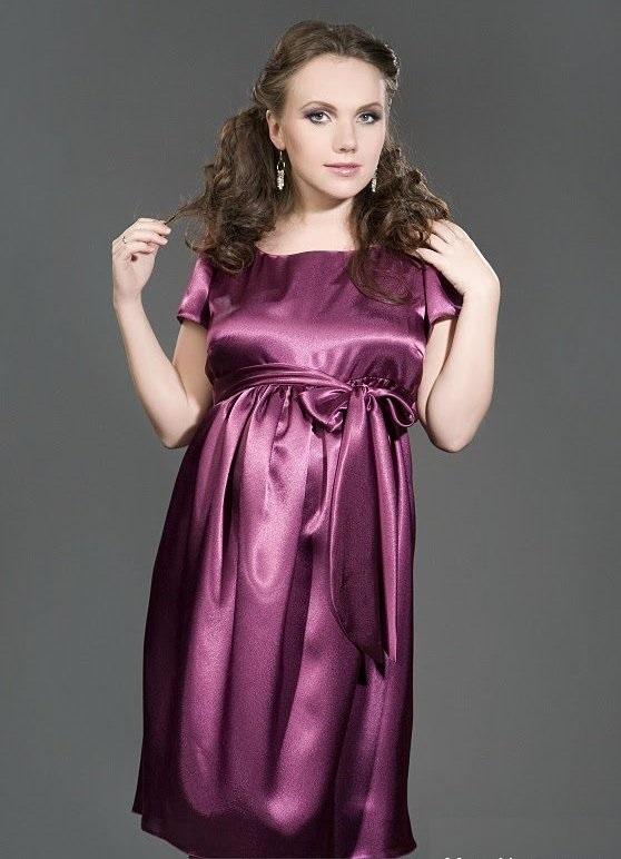 Беременная платья из атласа