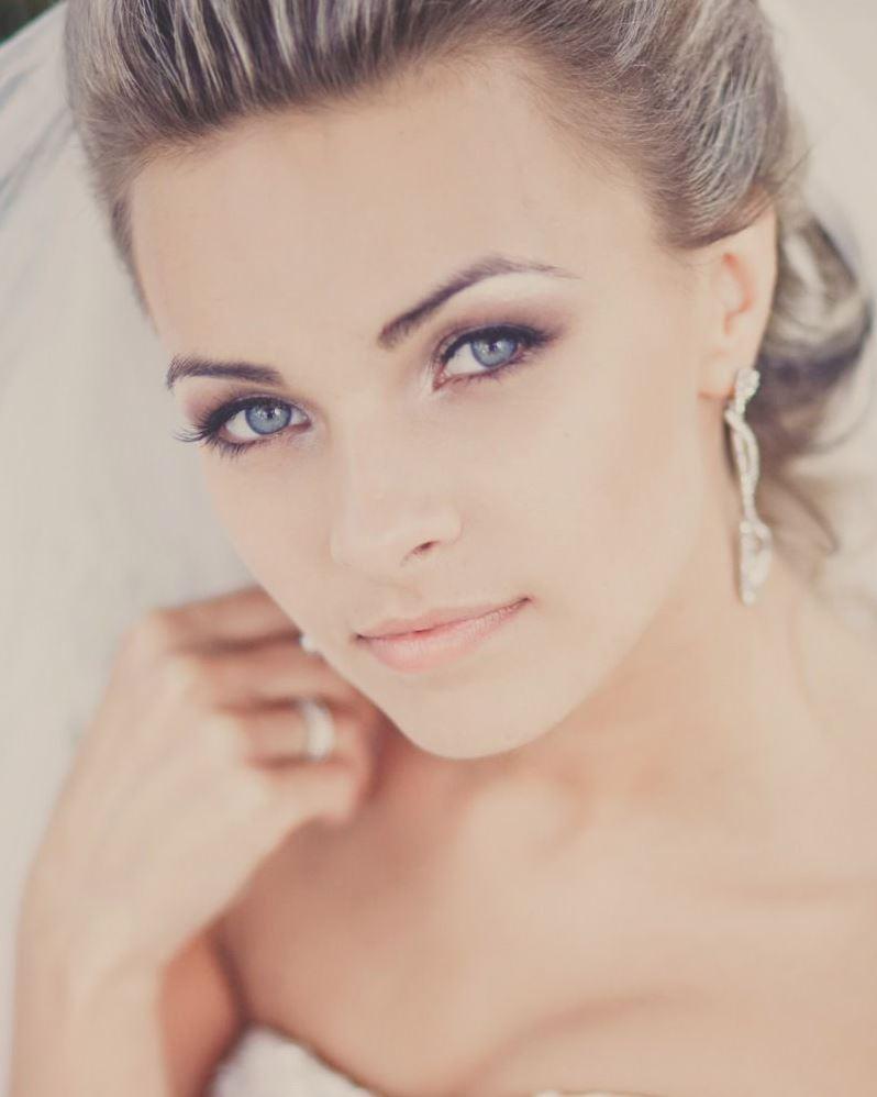 Нежный свадебный макияж фото