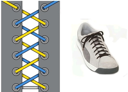 Схема шнуровки вансов