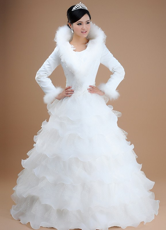Свадебное платье снежная королева