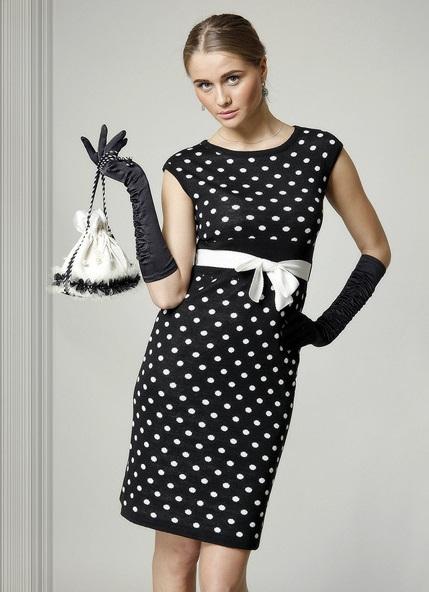 платья в горошек фото, белое платье в горошек, платье черное в горошек, платье в горошек длинное,синее платье в горошек