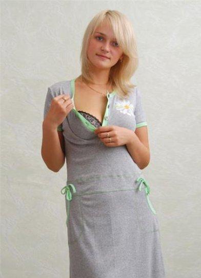 Домашнее платье для кормящих мам
