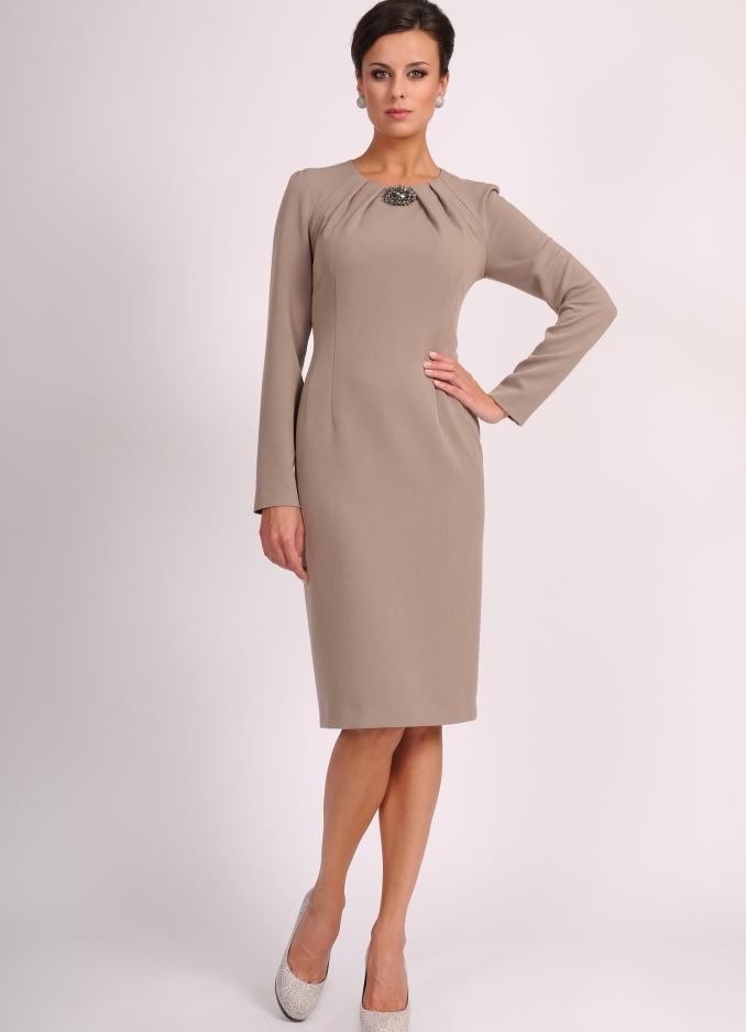 Платье футляр рукава три четверти