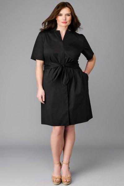 Класическое платье на полных