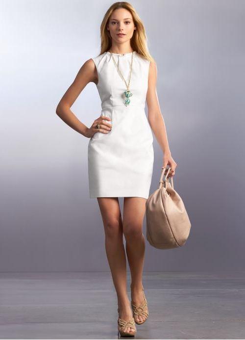 фото корпоратив платье белое на