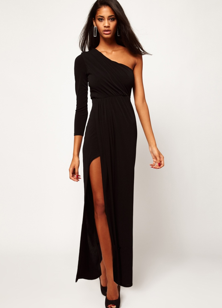 фото платья с одним рукавом