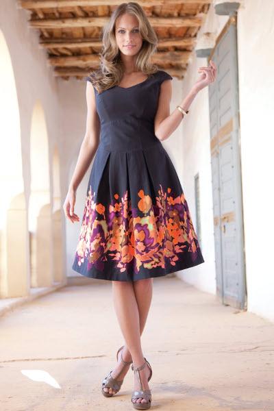 Платье с пышной юбкой фото на каждый день