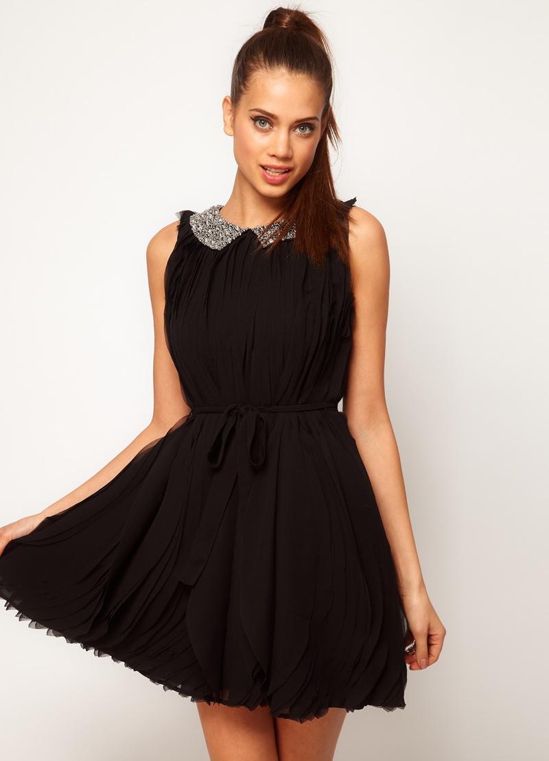 Короткие платья с воротником фото