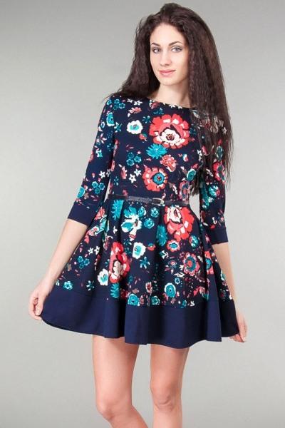Клеш платье