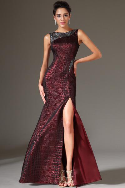 Платье в пол разрез спереди