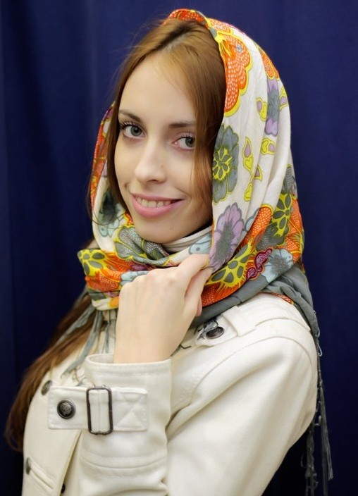 Платок на голову зимой фото