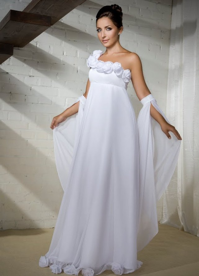 Фото свадебные платья для беременных девушек
