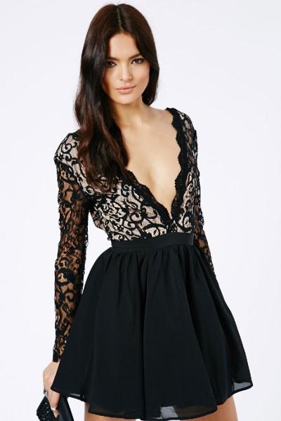 Купить платье с декольте короткое