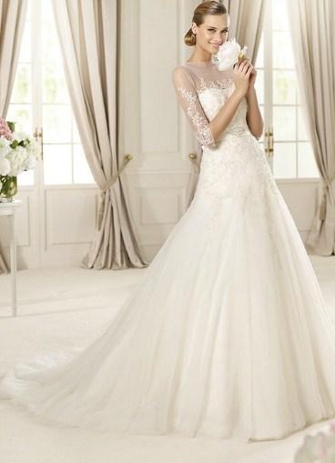 Свадебное платье через плечи