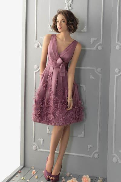 Вязаное платье из мохера спицами