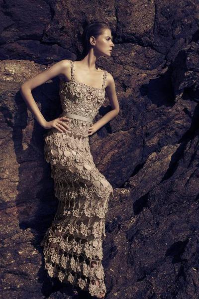 Вязаный креативные платья