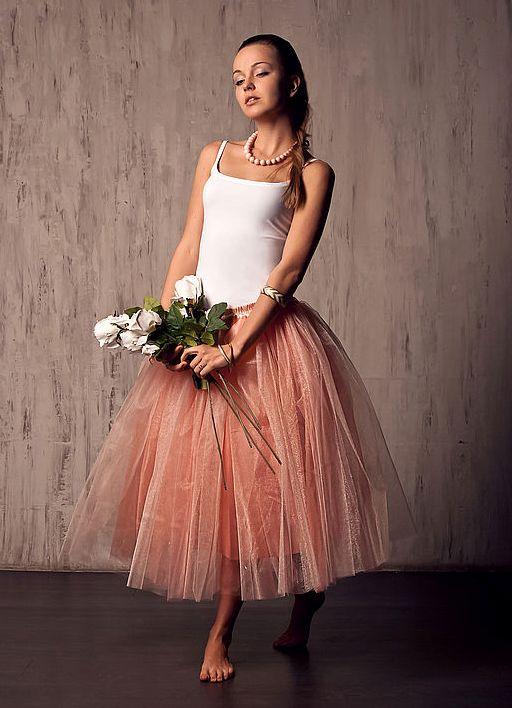 Пышная фатиновая юбка фото
