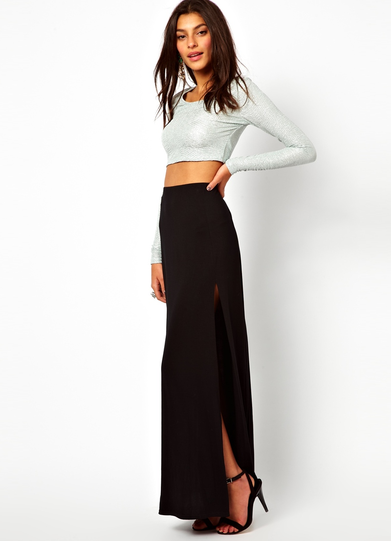 Сшить длинную прямую юбку с разрезом