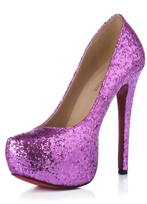 Купить фиолетовые туфли