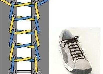 шнуровка кед с 6 дырками фото