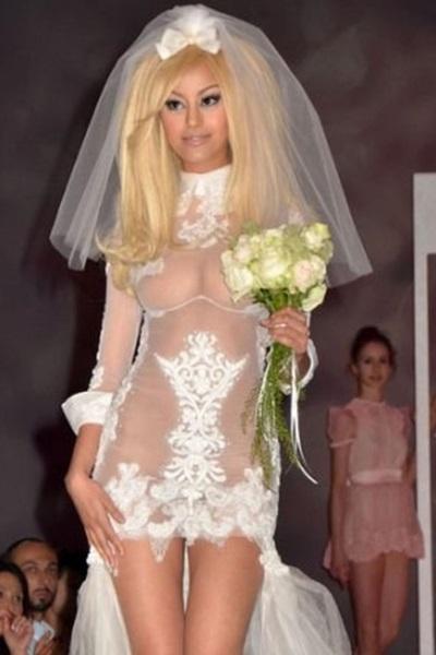 Шокирующие платья невесты 1