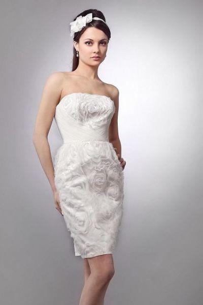 Свадебное платье-футляр 1