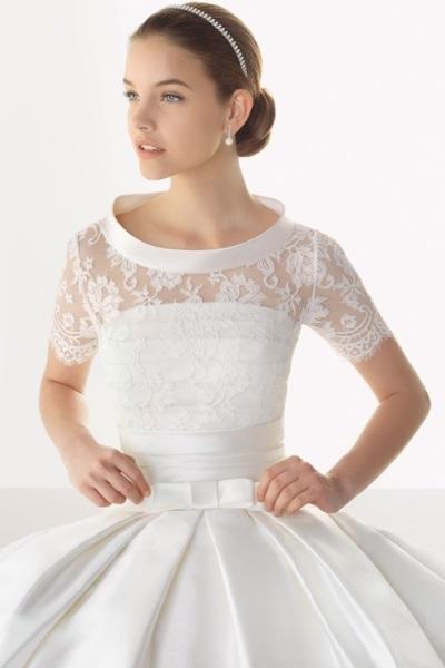 Свадебное платье с кружевными рукавами 3