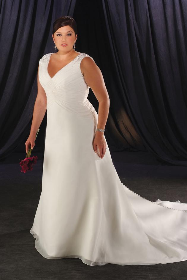 Как выбрать свадебное платье для полных