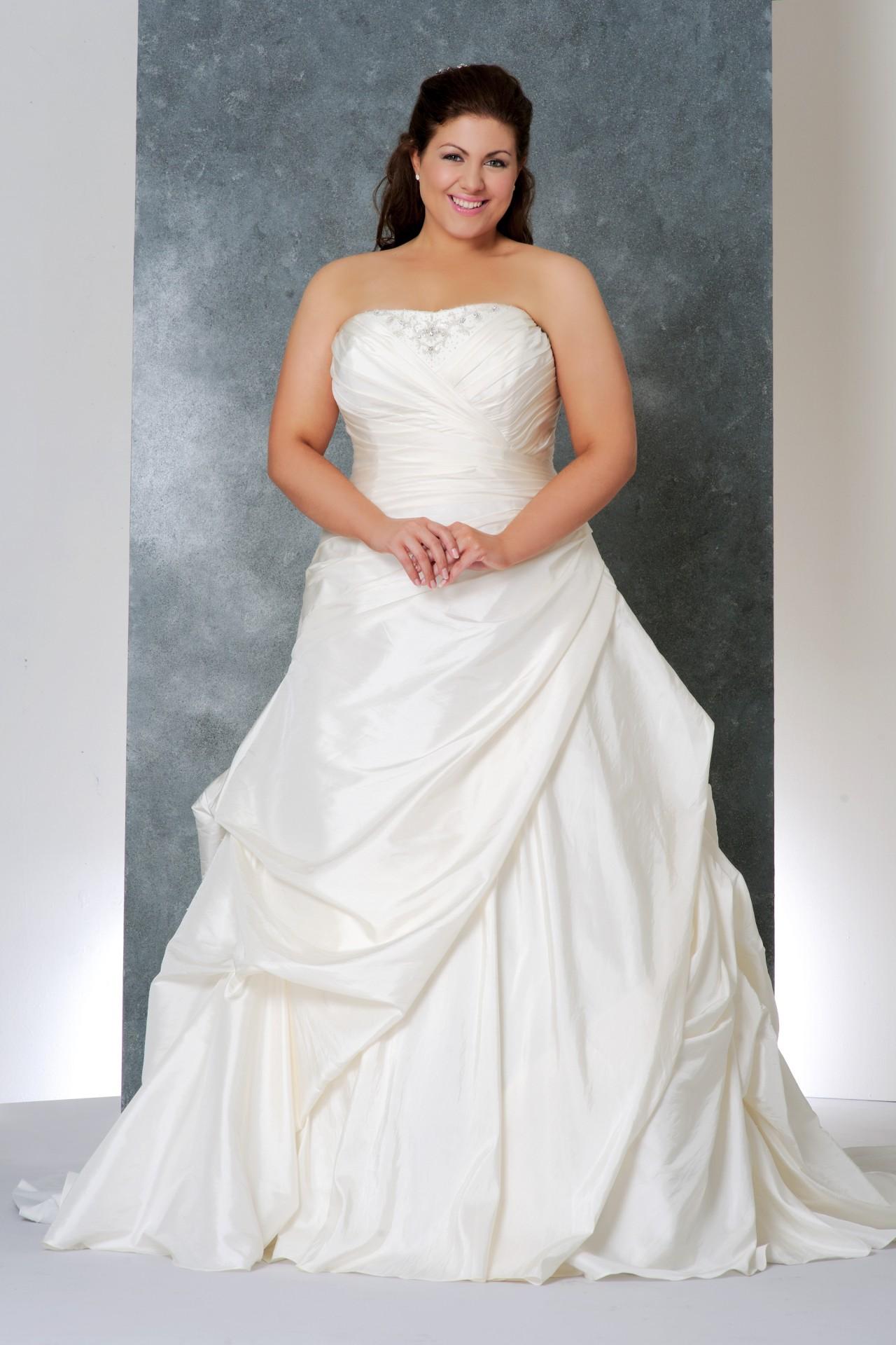 Свадебные пышные платья на полных