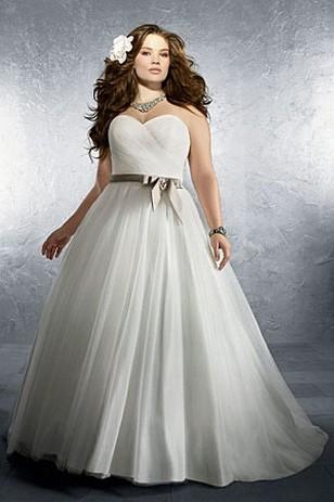 Полные девушки в пышных свадебных платьях фото
