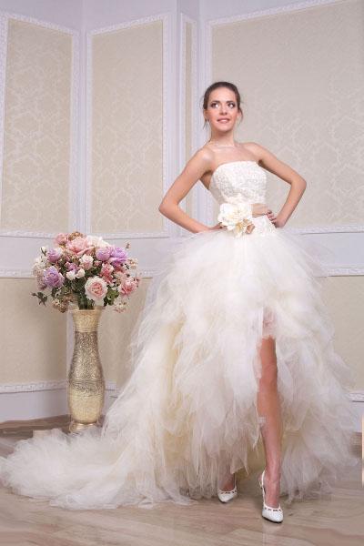 Мини свадебные платья для смелых