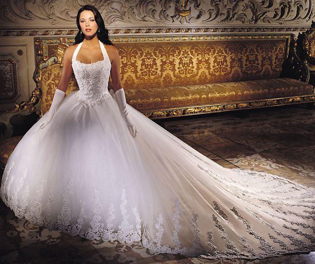 Свадебное платье со камнями
