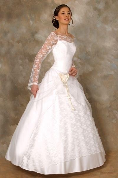 Свадебные платья с рукавами 1