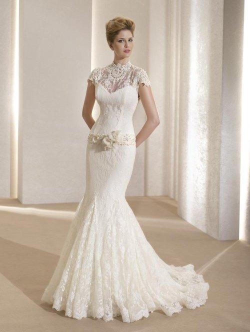 Закрытые Платья лето турецкие свадебные платья (для венчания) с длинным рукавом