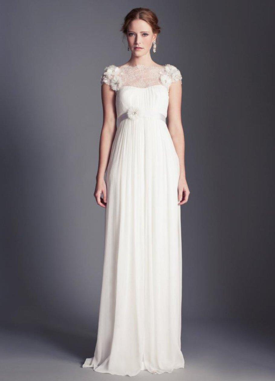 Силуэт платье с завышенной талией