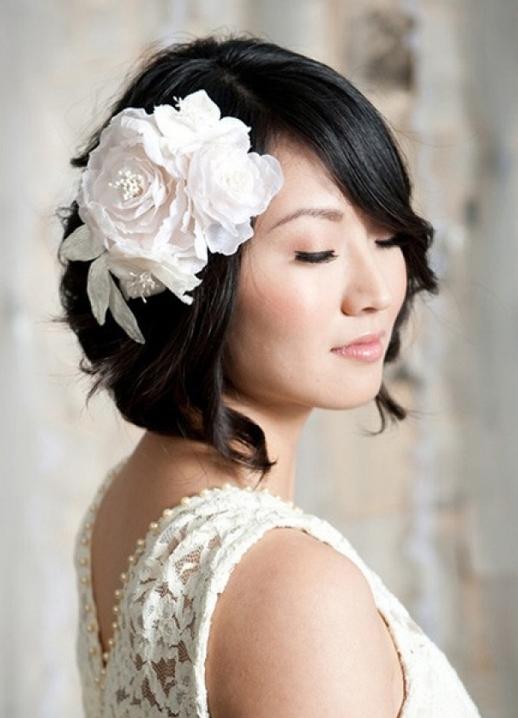 Прически с каре свадебные