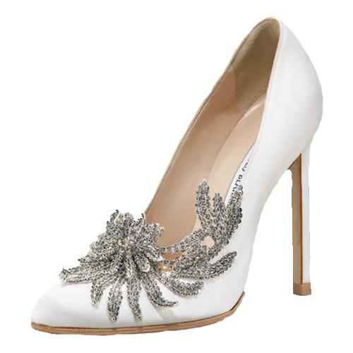 Женские свадебные туфли из натуральной кожи