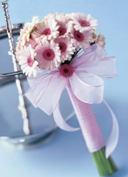 Свадебный букет из герберов