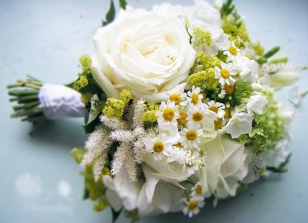 Фото свадебный букет из ромашек
