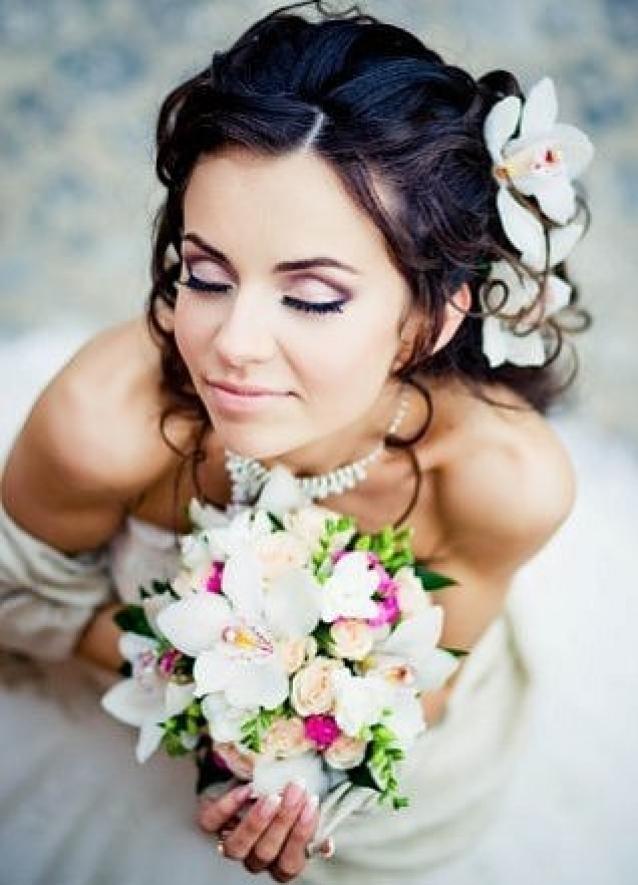 Свадебный макияж для брюнеток 2