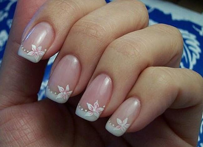 Маникюр короткие ногти свадебный